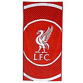 Liverpool Fc 'Bullseye' Football Printed Beach Towel