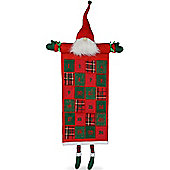 Large Hanging Red & Green Fabric Christmas Advent Calendar