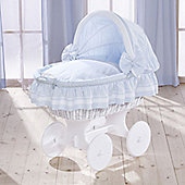 Leipold Lollipop Wicker Hood Crib in Blue