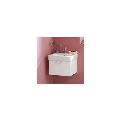 Duchy Trerise White Wall Hung 1 Drawer Vanity Unit and Basin - 450mm Wide x 397mm Deep