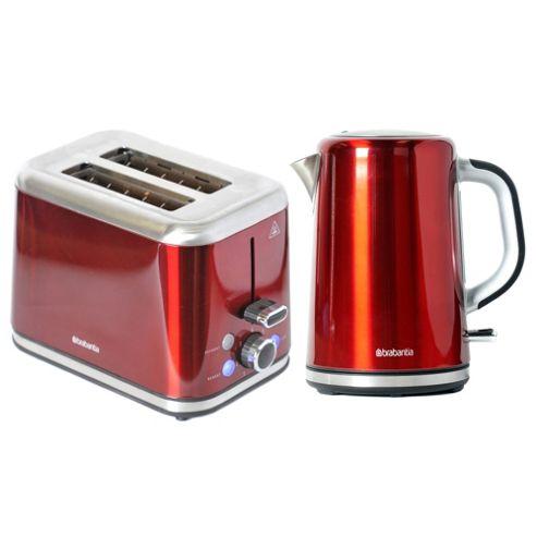 buy brabantia bqpk11 red breakfast kettle and 2 slice. Black Bedroom Furniture Sets. Home Design Ideas