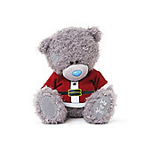 Me to You Tatty Teddy bear wearing Santa print sleeved top