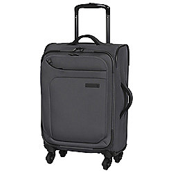 IT Luggage Megalite 4-Wheel Suitcase, Charcoal Small