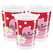 Minnie Mouse Cups - 180ml Plastic Party Cups, Pack of 10
