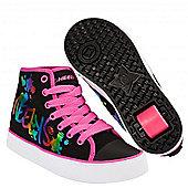 Heelys Veloz Black/Rainbow Metallic Kids Heely Shoe - Blue