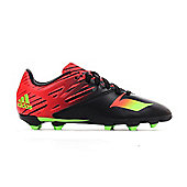 adidas Messi 15.3 FG Firm Ground Kids Football Soccer Boot Black/Red - Black