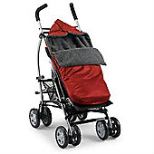 Country Cradles Storm Footmuff (Red/Charcoal)