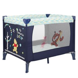 Obaby Disney Winnie the Pooh Travel Cot in Navy