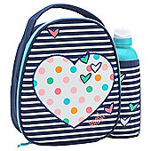 Smash Lunch Bag & Water Bottle, Heart Design
