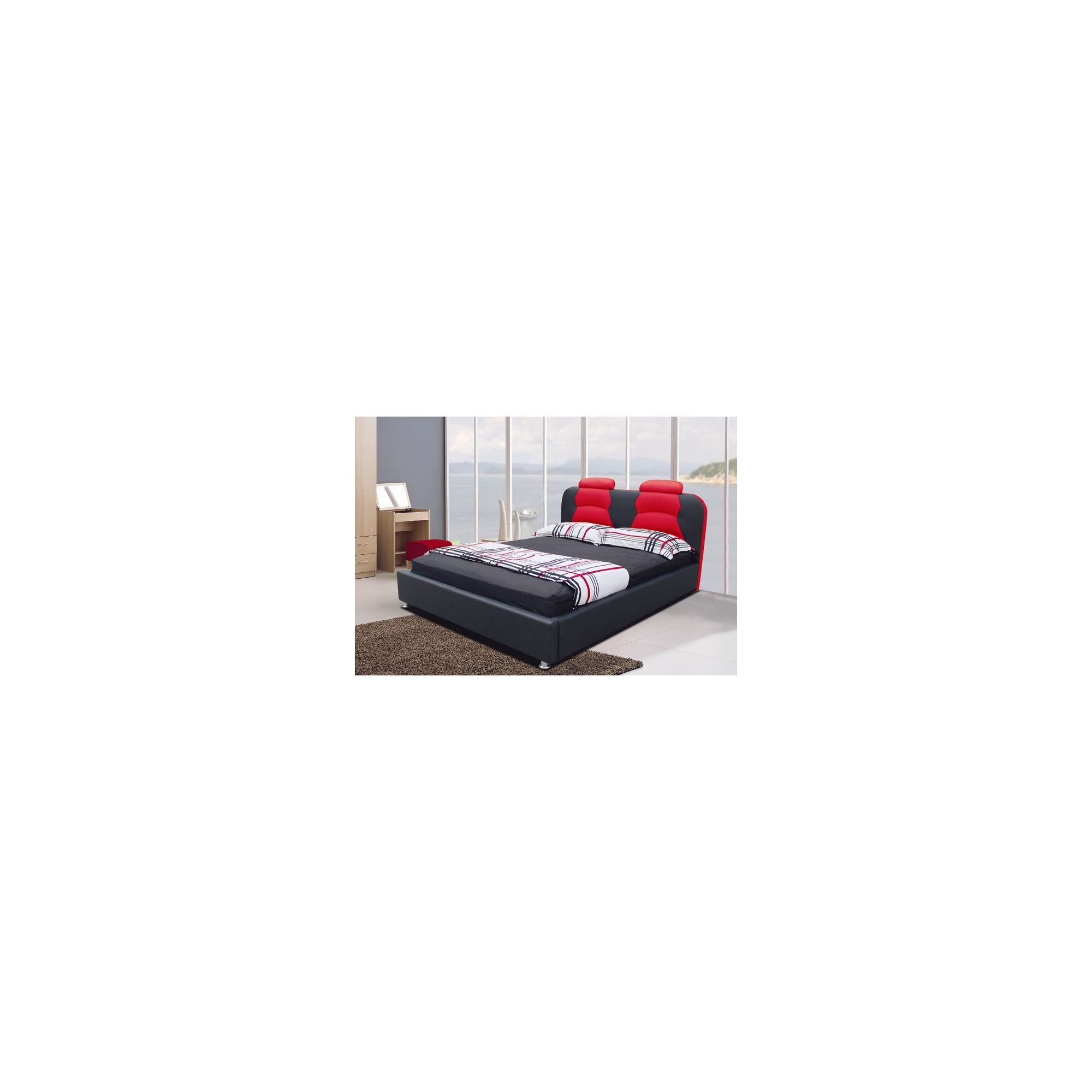 Giomani Designs Designer Double Bed - Red / Black at Tesco Direct