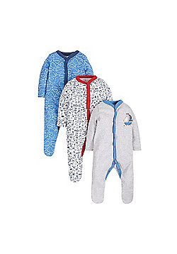 Mothercare Sea Side Sleepsuits - 3 Pack Size tiny baby 5lbs