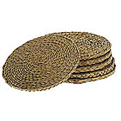 """Wicker Valley Round Rush Table Mat (Set of 6) - 12"""""""
