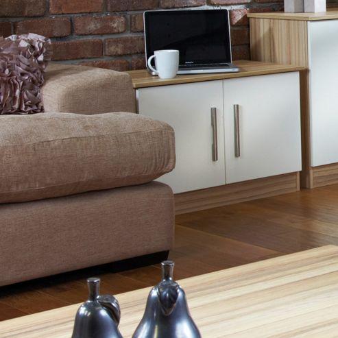 Welcome Furniture Living Room Low 2 Door Unit - Vanilla/Cocobola
