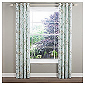 Allium Eyelet Curtains W229x137cm (90x54''), Duck Egg