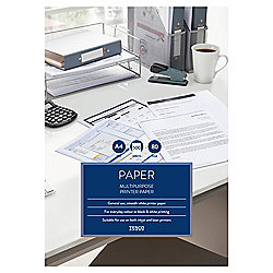 Tesco A4 Multipurpose White Paper 80Gsm, 500 Sheets