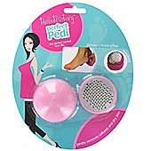 Pretty the Foot Factory Perfect Pedicure Pocket Foot File with 2 Finishing Pads
