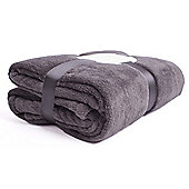 Snuggle Touch Throw 140/180cm Charcoal