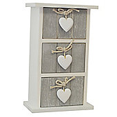 Provence - Bedroom Storage Trinket Drawer Chest - White / Grey