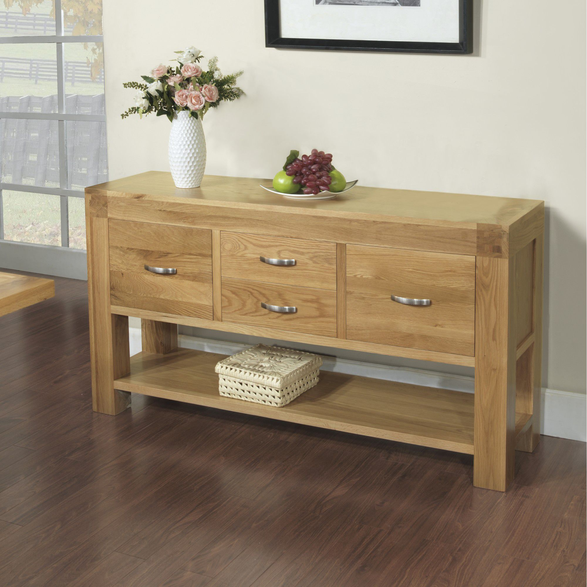 Hawkshead Rustic Oak Blonde Hall Table at Tesco Direct