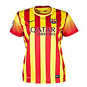2013-14 Barcelona Away Nike Womens Shirt - Red