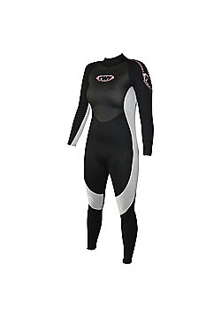 Ladies Full Suit 2.5mm Blk/silv Size 8