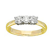9ct Gold 0.5 Carat Three Stone Diamond Ring