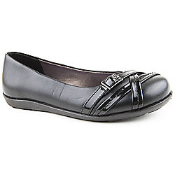 Skittles Girls Ping Black School Shoes