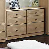 Welcome Furniture Corrib 6 Drawer Midi Chest - Light Oak