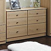 Welcome Furniture Corrib 6 Drawer Midi Chest - Light Oak