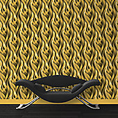 Muriva Ribbons Wallpaper - Yellow