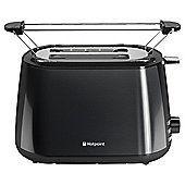 Hotpoint Black Stainless Steel 2 Slice Toaster