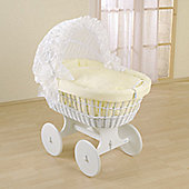 Leipold Flora Wicker Hood Crib in Beige