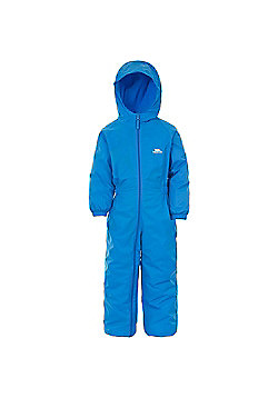 Trespass Kids DripDrop All In One Padded Waterproof Rain Suit - Blue