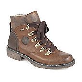 Relife by Pavers Water Resistant Lace Up Ankle Boot - Brown