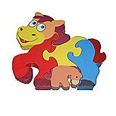 Traditional Wood 'n' Fun Farm Animal Puzzles - Horse 12m+