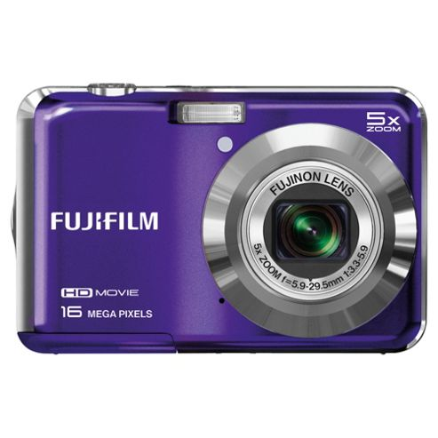 Fuji AX650 Digital Camera, Purple, 16MP 5x Optical Zoom, 2.7