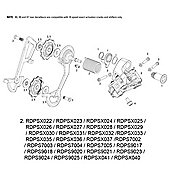 SRAM Cage Kit for Rear Derailleur X0 2012 10spd (Cage & Pulleys) Silver Medium