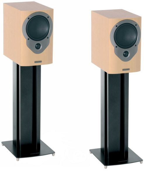 Pair of Black Mountech Speaker Stands Height 610mm