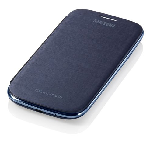 Samsung Original Flip Case for Galaxy S3/SIII - Chrome Blue