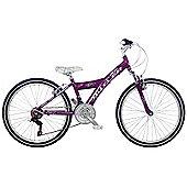 "Claud Butler Banshee Kids' 24"" Wheel Purple Junior Bike"