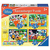 Mickey Mouse Clubhouse - Fun and Games - 4 in 1 Puzzle