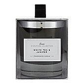Linea White Tea & Juniper Single Candle In White