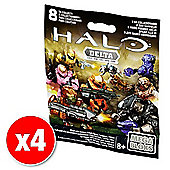Halo Mega Bloks Series Mystery Packs Delta Series x4