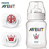 Philips Avent 9oz Bottle & Soother Limited Edition Set SCD683/31
