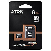 TDK microSDHC 8GB Class 4 Card + SD Adapter