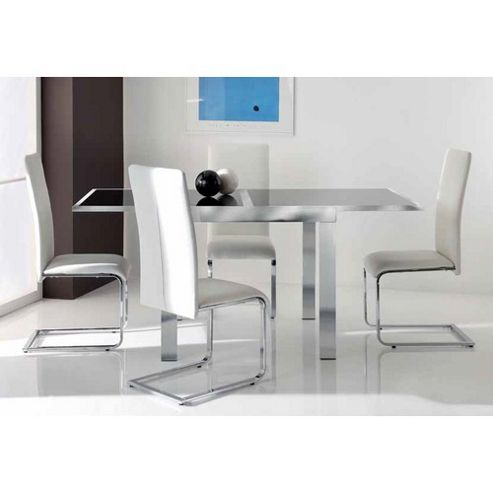 Wilkinson Furniture Matrix Extendable Dining Table - Clear