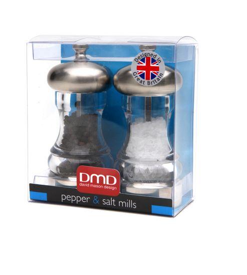 David Mason Design Mercury 11.5cm Salt and Pepper Mill Set