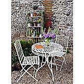 Cream Wrought Iron Bistro Set