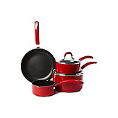 Linea Red Principle 4 Piece Pan Set In Red