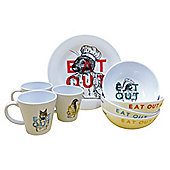 EAT OUT 16 Piece Melamine set (4 Person)